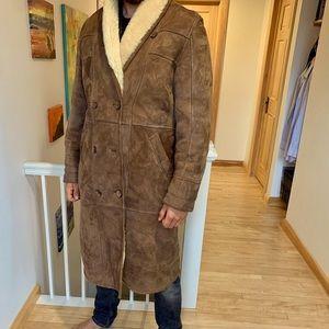 Vintage full Sheepskin coat. Made in Turkey.